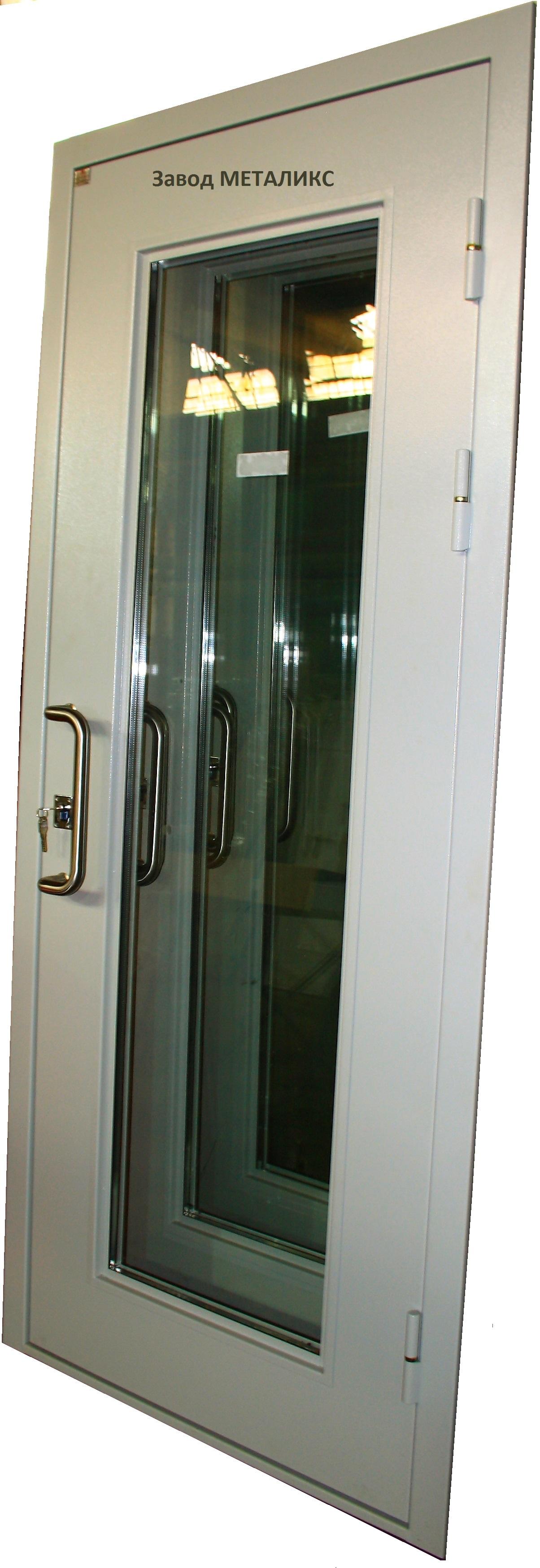 стальные остеклённые двери опт